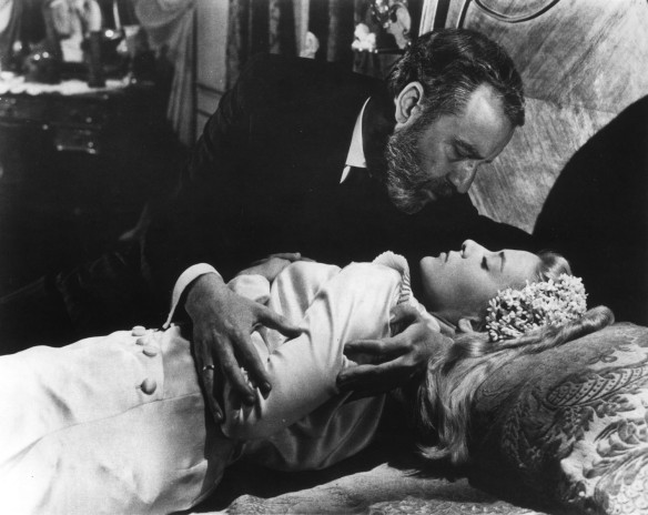 Francisco Rabal and Silvia Pinal in Luis Buñuel's VIRIDIANA.  Cr